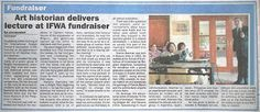 "Ishrat Hyatt, ""Art Historian delivers Lecture at IFWA Fundraiser,"" International The News, Pakistan, March 30, 2010, City News, p. 20."