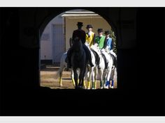 READY: Riders bring their Lipizzaners into the performance area on 19 July to get the Mandela Day show on the road. Journalism, Bring It On, African, Journaling