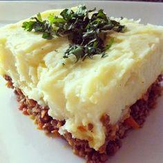 potato pie with lentils - food - Recetas Easy Pasta Recipes, Veggie Recipes, Vegetarian Recipes, Cooking Recipes, Healthy Recipes, My Favorite Food, Favorite Recipes, Food Porn, Tasty
