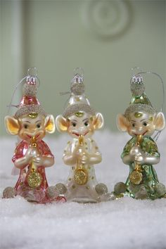 Retro Kitsch Elf Ornaments | Elf Christmas Ornaments
