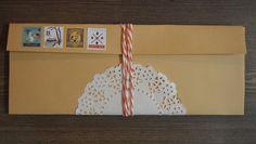 DIY pocket envelope folder, inspired by Hello Sandwich Folder Diy, Pocket Envelopes, Bedroom Flooring, Snail Mail, Washi, Something To Do, Crafty, Creative, Jars