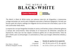 """The world in Black & White"" Muestra fotográfica de National Geographic en el Centro Niemeyer"