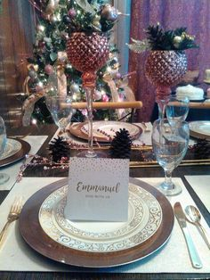 Table setting Rose Gold