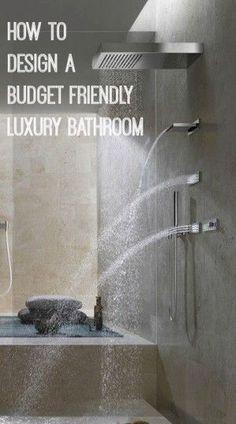 A Budget Friendly Luxury Bathroom