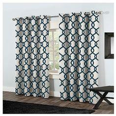 Set of  Kochi Curtain Panels Teal