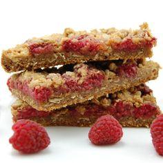 Raspberry Crumb Breakfast Bar. Raspberries are very high in fiber!