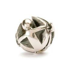 Trollbeads Gemini Silver Charm Bead