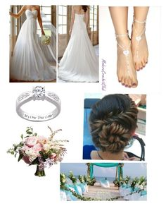 """""""Wedding at the beach"""" by imaray98 ❤ liked on Polyvore featuring women's clothing, women's fashion, women, female, woman, misses and juniors"""