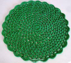 Tecendo Artes em Crochet: Sousplat Verde Bandeira