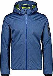 Cmp Herren Softshell Jacke Man Jacket Zip Hood, Größe 54 in