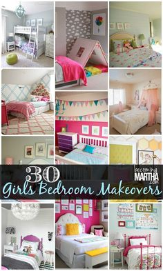 30 DIY Ideas for a Girls Bedroom Make over Love the reds and grays