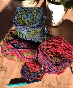 I had two skeins of chain yarn left over and couldn't decide what to do with it. Decided on two baby blankets. Easy to do. @crochetdaydream
