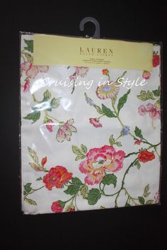 Ralph Lauren White Floral Caroline New Designer Table Runner 15 x 72 100% Cotton #RalphLauren
