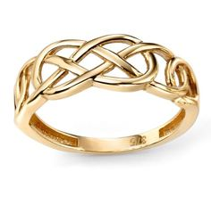 9ct Yellow Elements Gold Plain Celtic Pattern Ring