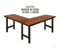 The Dark Walnut Sawyer L Shaped Desk Industrial Etsy Corner Desk In 2019 L Shaped Desk Desk Industrial Desk