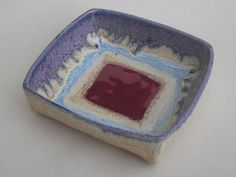 Shoply.com -Square Dish handmade ceramic dish for soap, trinkets etc.. Only £8.00