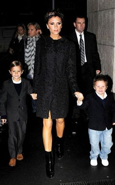 Victoria Beckham, Romeo & Cruz from The Big Picture: Today's Hot Photos