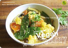 Ich habe den Kokos-Curry-Duft von Billa's Gemüsecurry regelrecht in der Nase... nomnomnom *