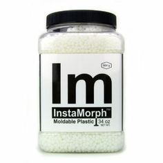 InstaMorph (moldable plastic) similar to Worbla Deco Art, but can buy from Amazon and can help with armor detail