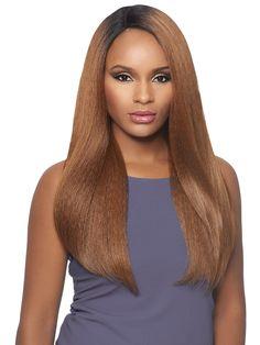 Outre Lace Front Wig Batik Dominican Blow Out Straight Bundle