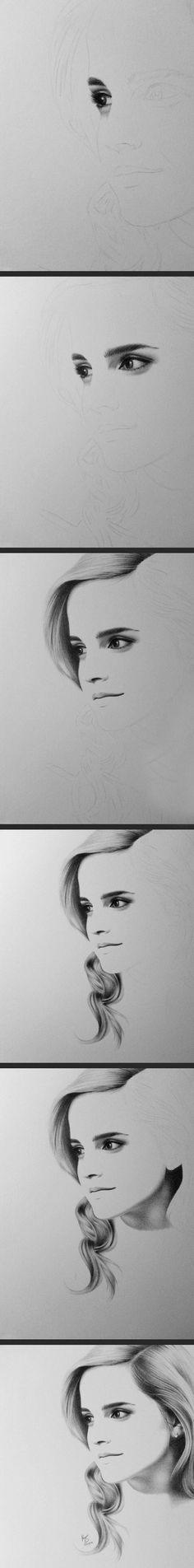 Incredible Drawing Of Emma Watson