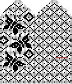 Ideas For Crochet Mittens Tricot Knitted Mittens Pattern, Fair Isle Knitting Patterns, Crochet Mittens, Knitting Charts, Knitting Stitches, Knitting Designs, Knitting Socks, Crochet Chart, Filet Crochet