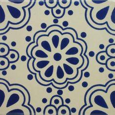 Especial Decorative Tile - Lace Azul II – Mexican Tile Designs