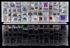 Wall of MJ's accessories at the LV X MJ exhibition in Paris
