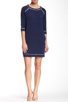 Max Studio - Topstitched Shift Dress at Nordstrom Rack. Free Shipping on orders over $100.