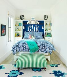 Built ins make the best of your small space bedroom and create a seamless look.