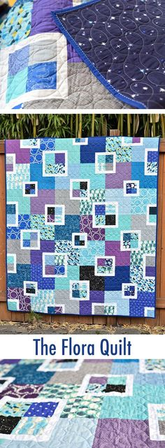 Finished Flora Quilt - With Link to the Pattern