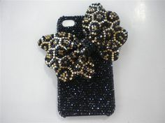iphone 5 case bow iphone Bling case iphone cover crystal iphone 4 case Bling rhinestone iphone 4 cover iphone hard case 4s. $35.00, via Etsy.