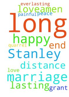 Please pray for Stanley and I to have a happy and long - Please pray for Stanley and I to have a happy and long lasting marriage. Pray for this distance between us to end to. Its been painful to quarrel with him. I pray for peace and love in my marriage. God grant us your everlasting love.Amen. Posted at: https://prayerrequest.com/t/DHj #pray #prayer #request #prayerrequest