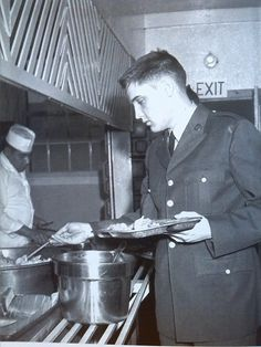 In the Mess Hall at Ft. Hood Texas. Early September 1958.