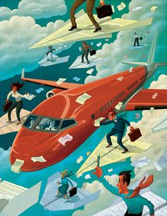 A full-page aviation insurance illustration for National Underwriter magazine. Thanks again to AD Tim Schafer. Cheers!