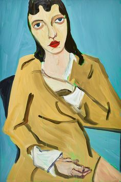 Chantal Joffe, Brunette in a Trench Coat. © The Artist, Courtesy Victoria Miro, London.