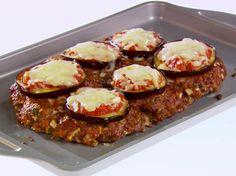 Get Eggplant Parmesan Meatloaf Recipe from Food Network Eggplant Dishes, Eggplant Parmesan, Giada De Laurentiis, Giada Recipes, Low Carb Recipes, Yummy Recipes, Healthy Recipes, Meatloaf Recipes, Beef Recipes