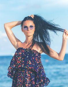 Lunettes Vintage Rondes Style Hippie couleur violet, rouge ou jaune cbe52861728a