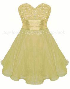 Mini Champagne Organza Prom Dress | Sweet Organza Dresses For Parties | PDUK
