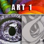"""An entire site on art lessons and tutorials - some free - from Julianna Kunstler. """"Art 1"""" is full of very detailed lessons on elements and principles. Plan to spend some time!"""