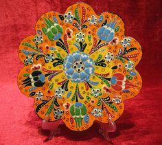 trivet coasters hot plate ceramic plates turkish by meryemart