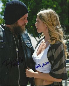 SONS OF ANARCHY AUTOGRAPHED SIGNED RYAN HURST WINTER AVE ZOLI OPIE 8X10 PHOTO