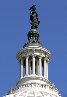 To the top of the Capital Building. Washington, D.C.