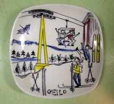 Stavangerflint Pottery Dish - Geilo Ski Skiing