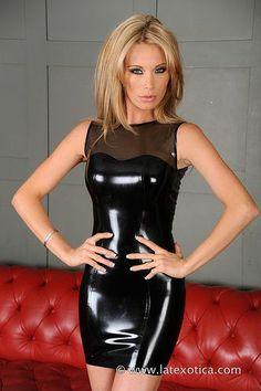 Dress black latex