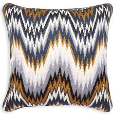 Patterned - Camel Bargello Worth Throw Pillow