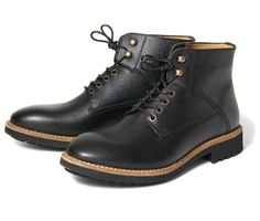 Mens Murray (Black) Leather Boots | H by Hudson