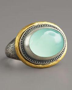 Y0TMY Gurhan Chalcedony Gauntlet Ring