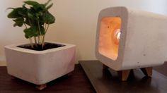 Night lamp/concrete lamp