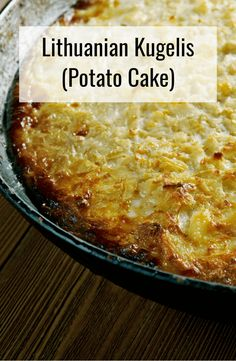 This hearty Lithuanian recipe is a must-try. Savory and delish potato cake with a golden crunchy crust on top - yum! Potato Recipes, New Recipes, Vegetarian Recipes, Cooking Recipes, Favorite Recipes, Potato Dishes, Lithuanian Recipes, Russian Recipes, Lithuania